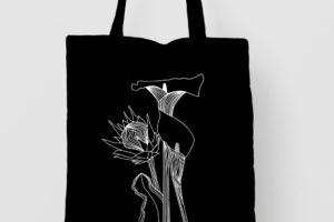 Pure Products Black Botanical Totebag