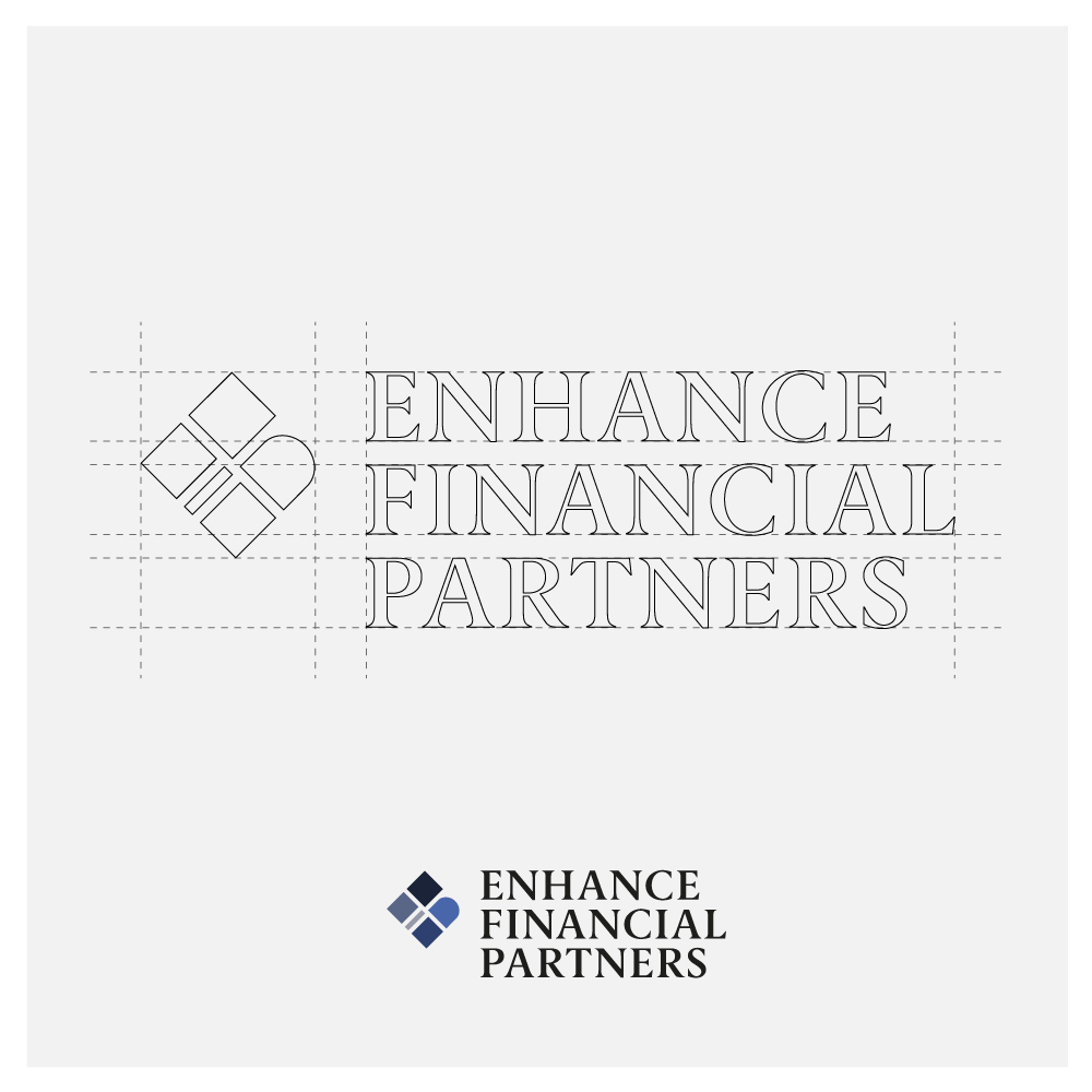 Enhance Financial Partners Logo Design Breakdown