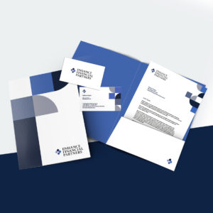 Enhance Financial Partners Brand Corporate Stationery