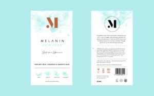 Melanin Skin Food Packaging Label Design