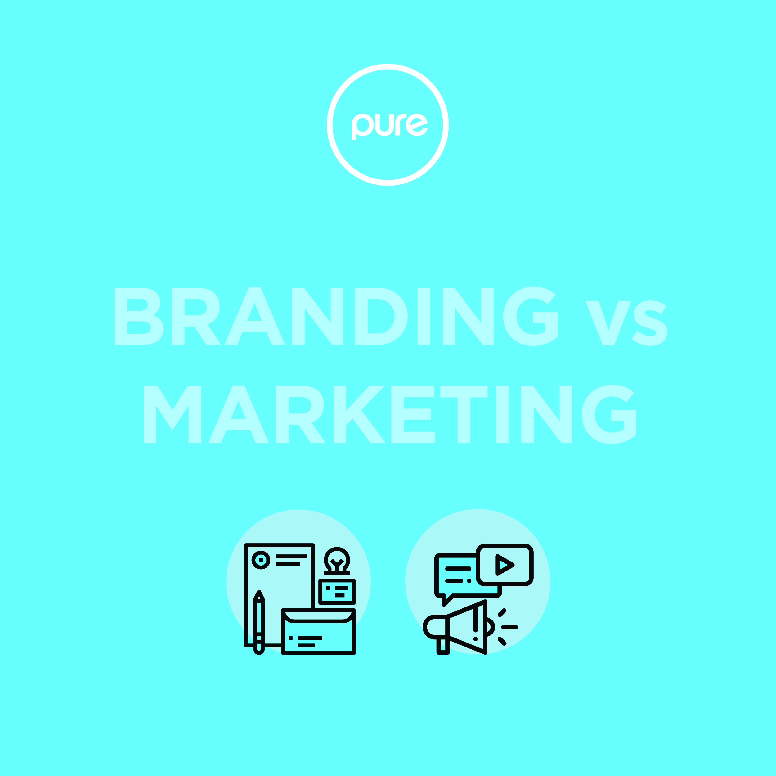 Branding Vs. Marketing Infographic