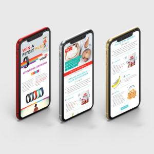 Vitalise Mobile App Design