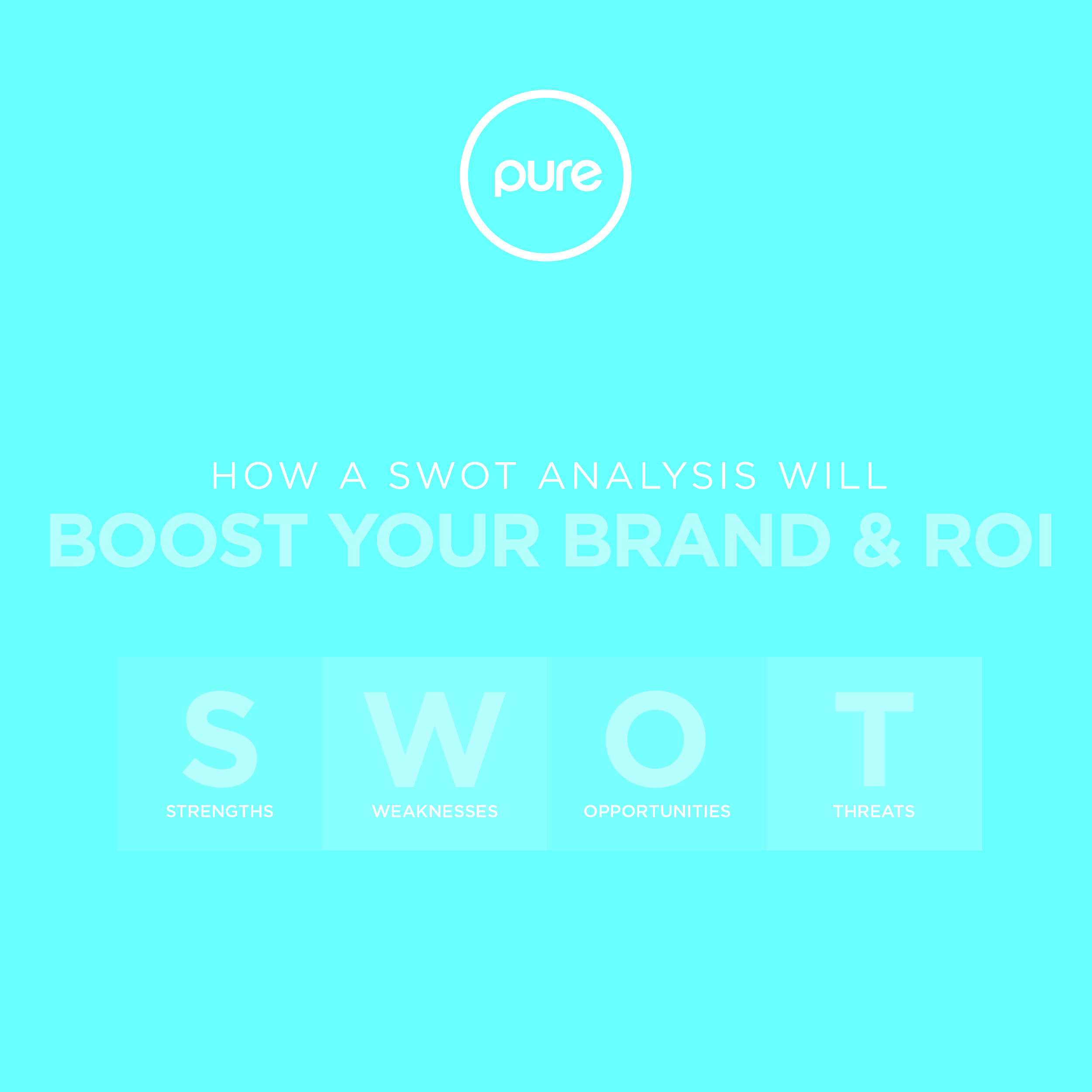Pure Creative How A SWOT Analysis Will Boost Your Brand And ROI Blog Post